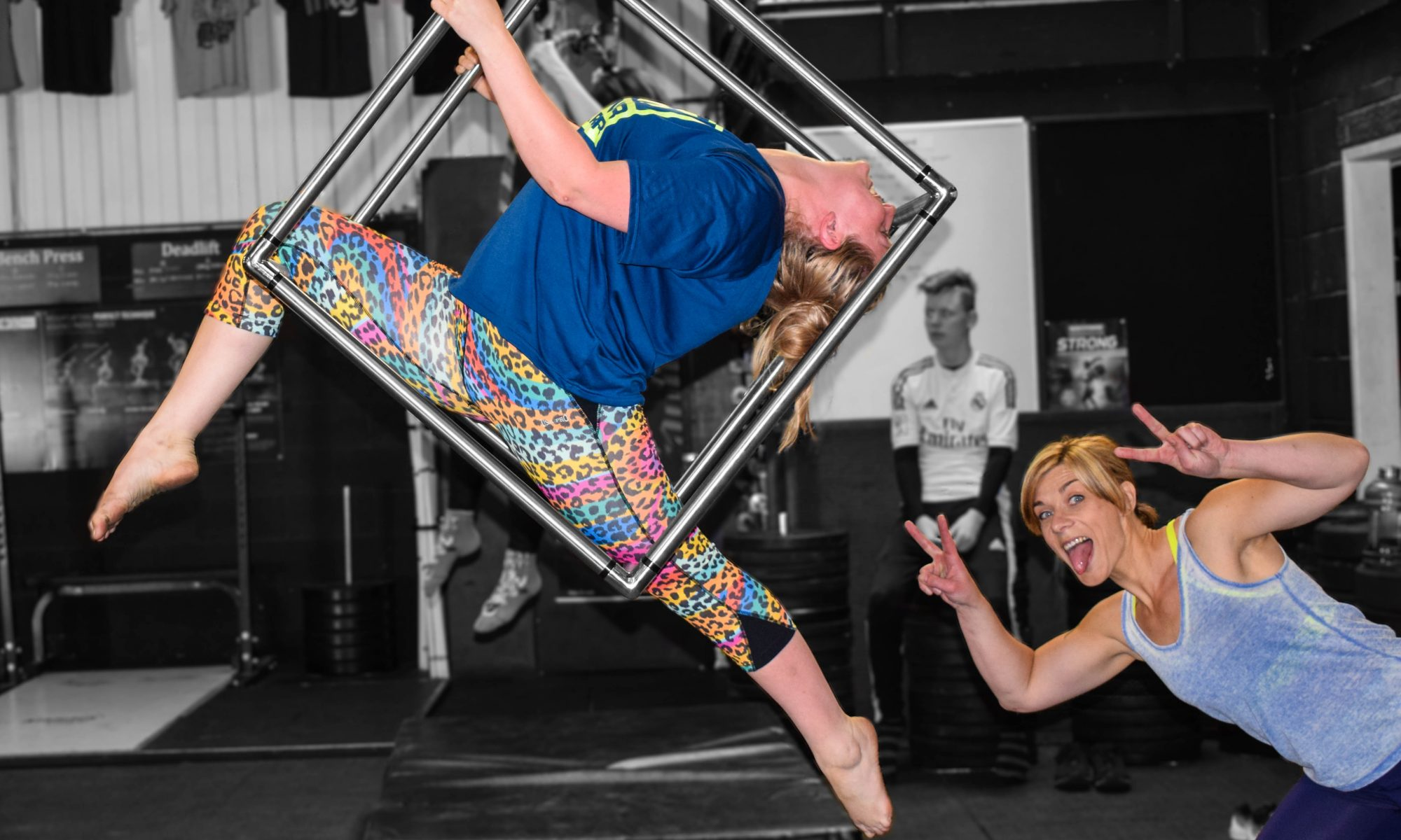 Aerial Cube friends at CirqueFit in Leyland